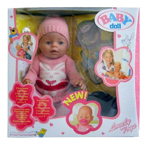 Пупс интерактивный Baby Doll с аксессуарами Shantou Gepai B1575776