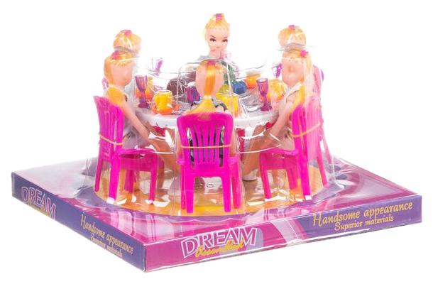 Игровой набор Gratwest обеденный стол с куклами Д79481 фото