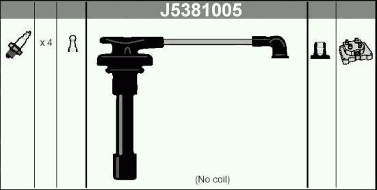 Комплект высоковольтных проводов NippartsJ5381005 фото