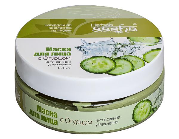 Купить Маска для лица Aasha Herbals с огурцом Интенсивное увлажнение , 150 мл, Маска для лица с огурцом