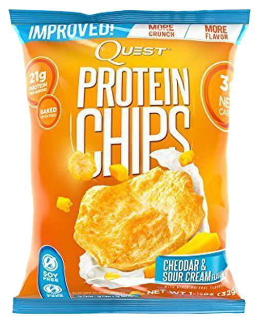 Чипсы Quest Nutrition Quest Protein Chips 34 г сметана, сыр фото