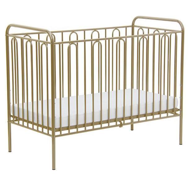 Купить 110 Бронзовый, Кровать детская Polini Kids Vintage 110 металлическая, Бронзовый, Классические кроватки