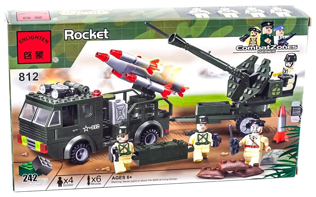 Купить Ракетная установка, Конструктор Brick Ракетная установка 242 детали BRICK812, Конструкторы пластмассовые