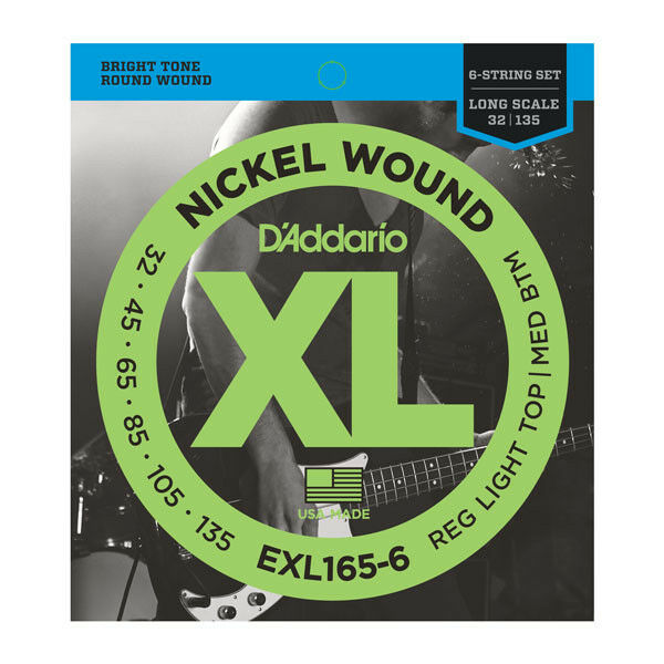 Струны для бас-гитары D ADDARIO EXL165 6