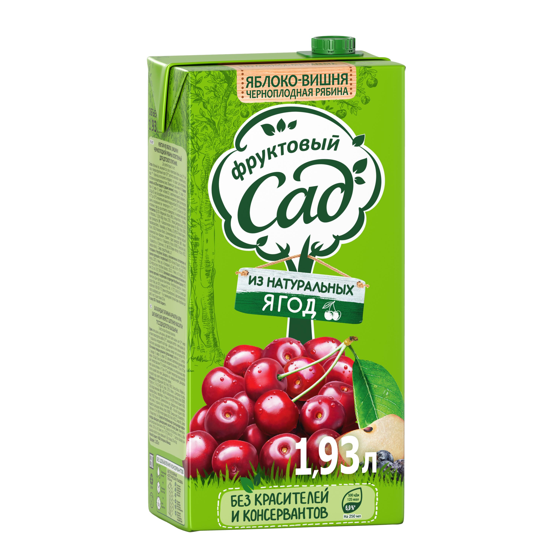 Нектар Фруктовый Сад яблоко-вишня-черноплодная рябина 1.93 л фото