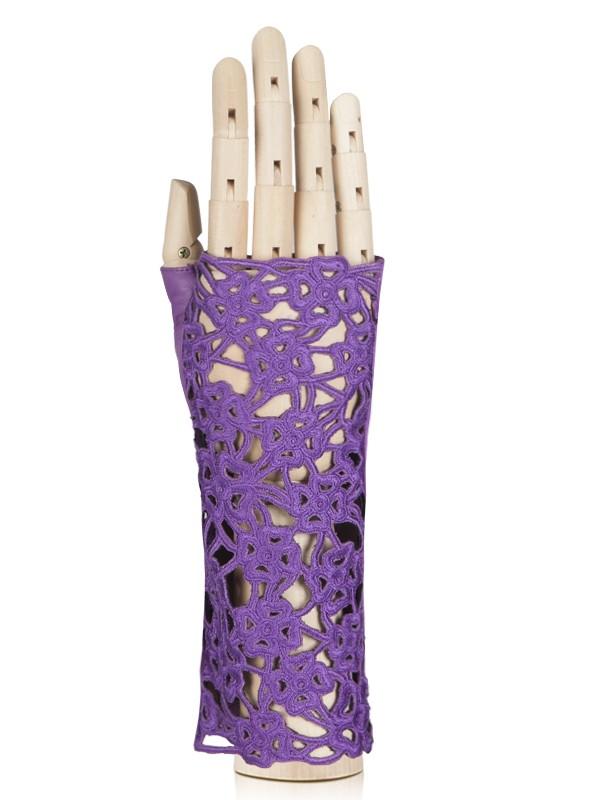 Митенки женские Eleganzza F-0160 фиолетовые 7