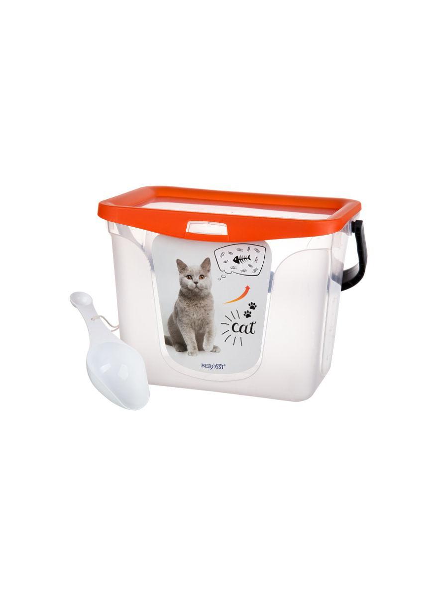 Емкость для корма животных, 6 литров (мандарин)