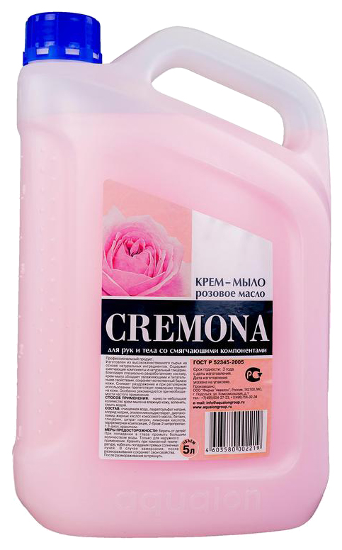 Жидкое крем мыло CREMONA Розовое масло