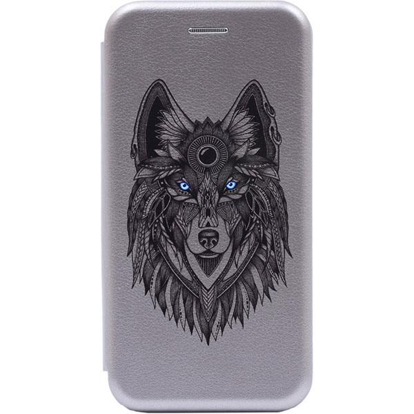 Чехол Gosso Cases для Honor 20 Pro Grey «Grand Wolf»