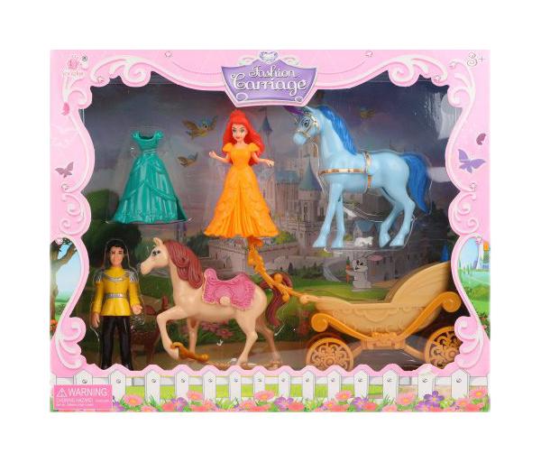 Купить Игровой набор Карета с фигурками, 5 предметов Наша игрушка,