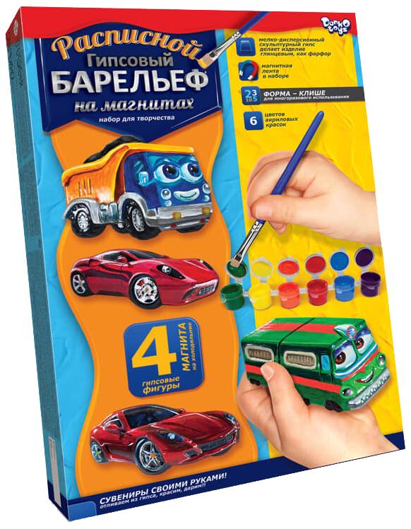 Купить Набор для творчества Расписной гипсовый барельеф №1, малый Данко Тойс / Danko Toys, Наборы для рисования