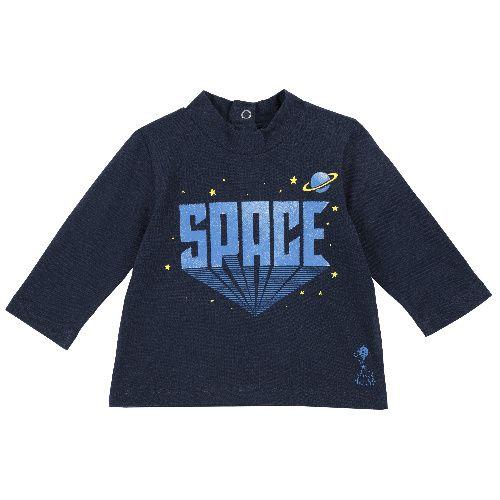 Купить 9006824, Лонгслив Chicco Space для мальчиков р.80 цв.темно-синий,