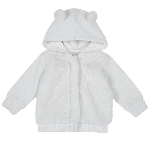 Купить 9096354, Толстовка Chicco для девочек р.74 цв.белый, Кофточки, футболки для новорожденных