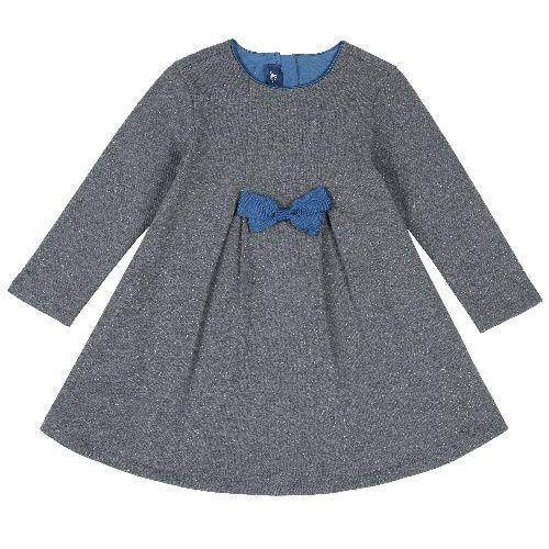 Купить 9003562, Платье детское Chicco длинный рукав р. 122 цв.темно-серый, Платья для девочек