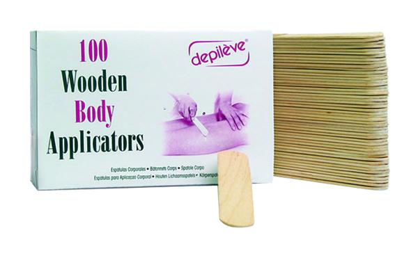 Шпатели для депиляции depileve 100 Wooden Body