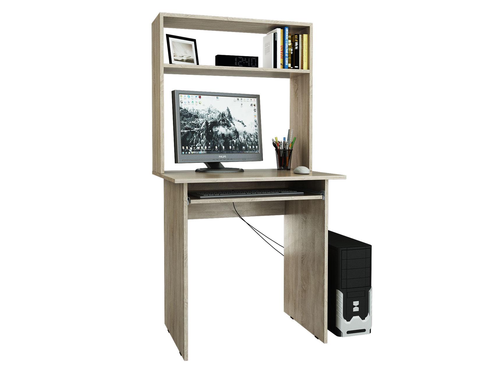 Компьютерный стол МФ Мастер Милан 2П 76,4x60x145, дуб сонома