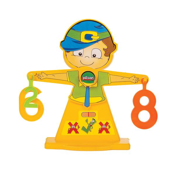 Купить Развивающая игрушка Pilsan Игровой набор Pilsan Number Balance. Весы с цифрами арт. 03-250, Развивающие игрушки