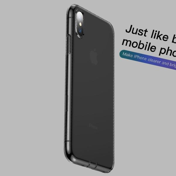 Чехол Baseus Simplicity (dust-free) для iPhone Xs Transparent Black
