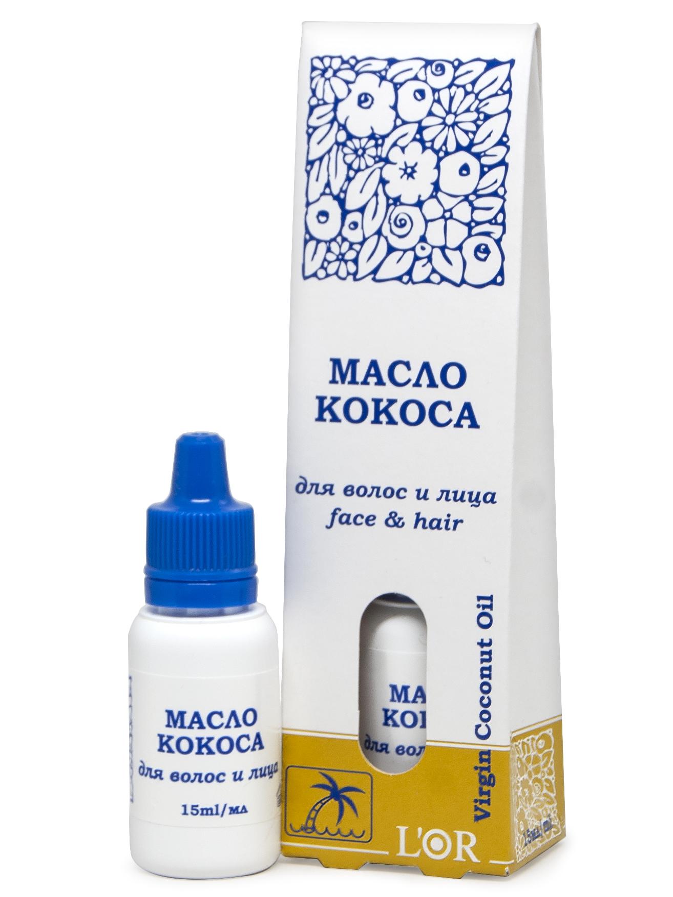 Масло для лица и волос DNC L\'Or кокосовое, 15 мл