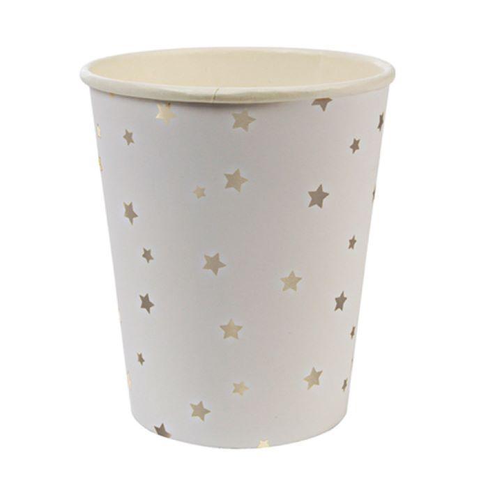 Стаканы Meri Meri звезды серебро фото