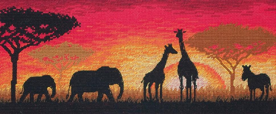 Набор для вышивания Anchor Maia Африканский горизонт 13х30 см Anchor   фото