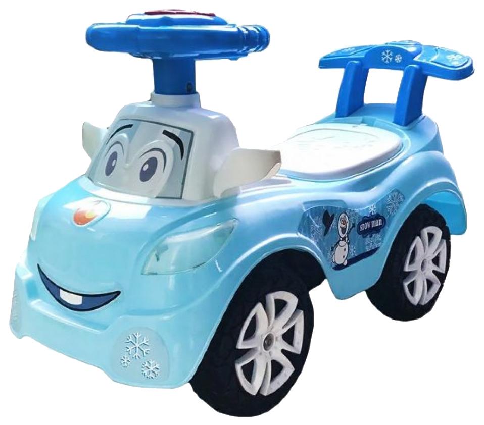 Машина-каталка Наша Игрушка Дружок, синяя, музыкальная