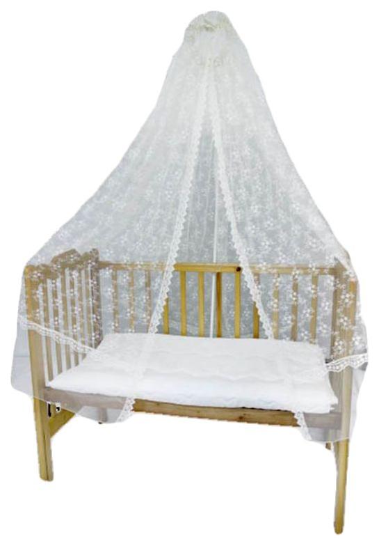 Балдахин для кроватки Labeillebaby вышитая сетка