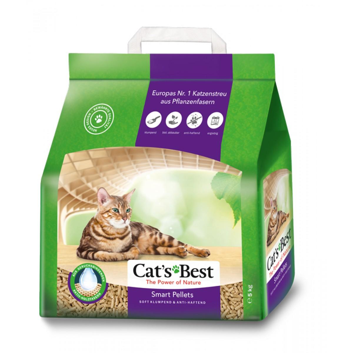 Наполнитель для кошачьего туалета Cat\'s Best, древесный комкующийся, 10л, 5кг