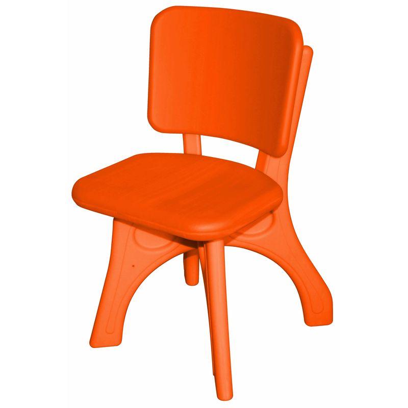 Детский пластиковый стул King kids Дейзи оранжевый