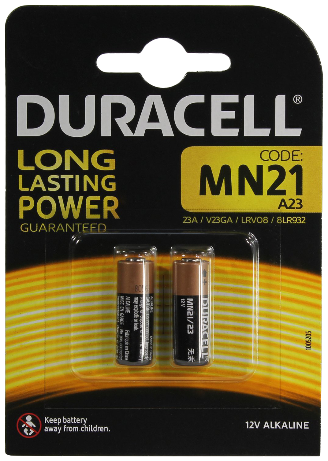 DURACELL DR MN21/2BL