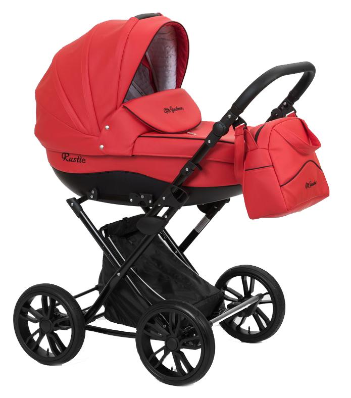 Купить Коляска-люлька Mr Sandman Rustle 100% Эко кожа красный, Коляски для новорожденных