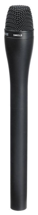 Микрофон Shure SM63LB репортерский Черный