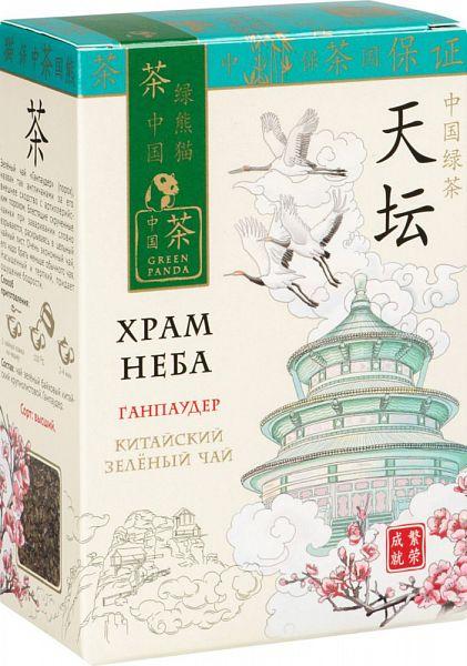 Чай зеленый Green Panda храм неба ганпаудер 100 г фото