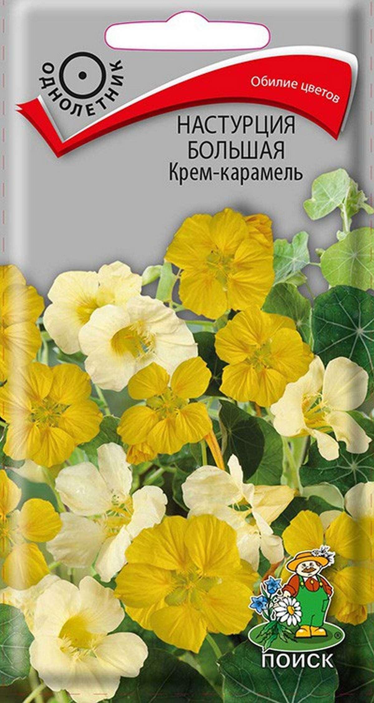 Семена Настурция большая Крем-карамель, Смесь, 1 г Поиск