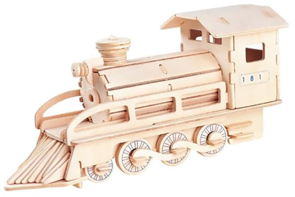Купить Сборная деревянная модель Wooden Toys Локомотив, Модели для сборки