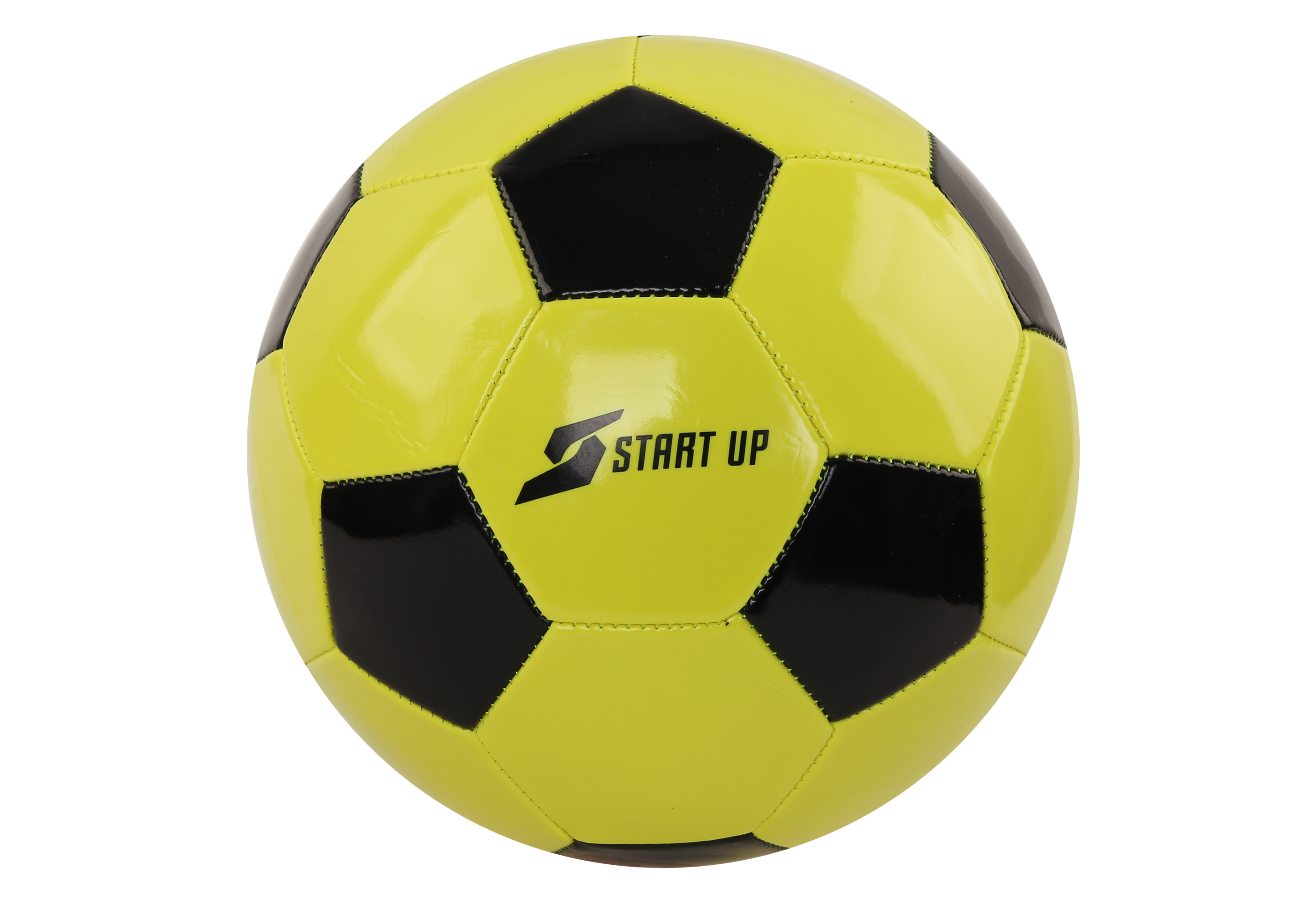 Мяч футбольный для отдыха Start Up E5122 лайм/чёрн