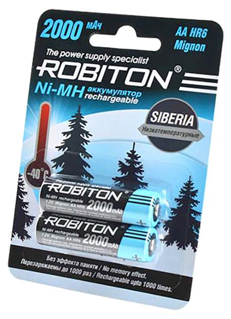Аккумуляторная батарея Robiton Siberia 2000MHAA-2 2 шт