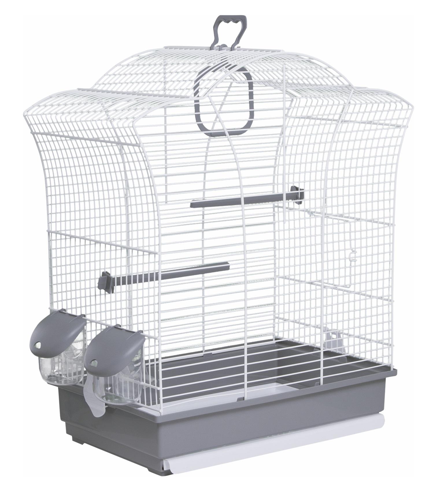 Клетка для птиц Voltrega (649) цвет белый/серый