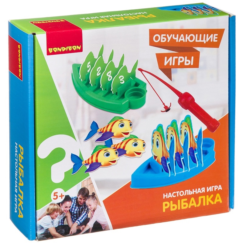 Купить Настольная игра Bondibon Рыбалка, Семейные настольные игры