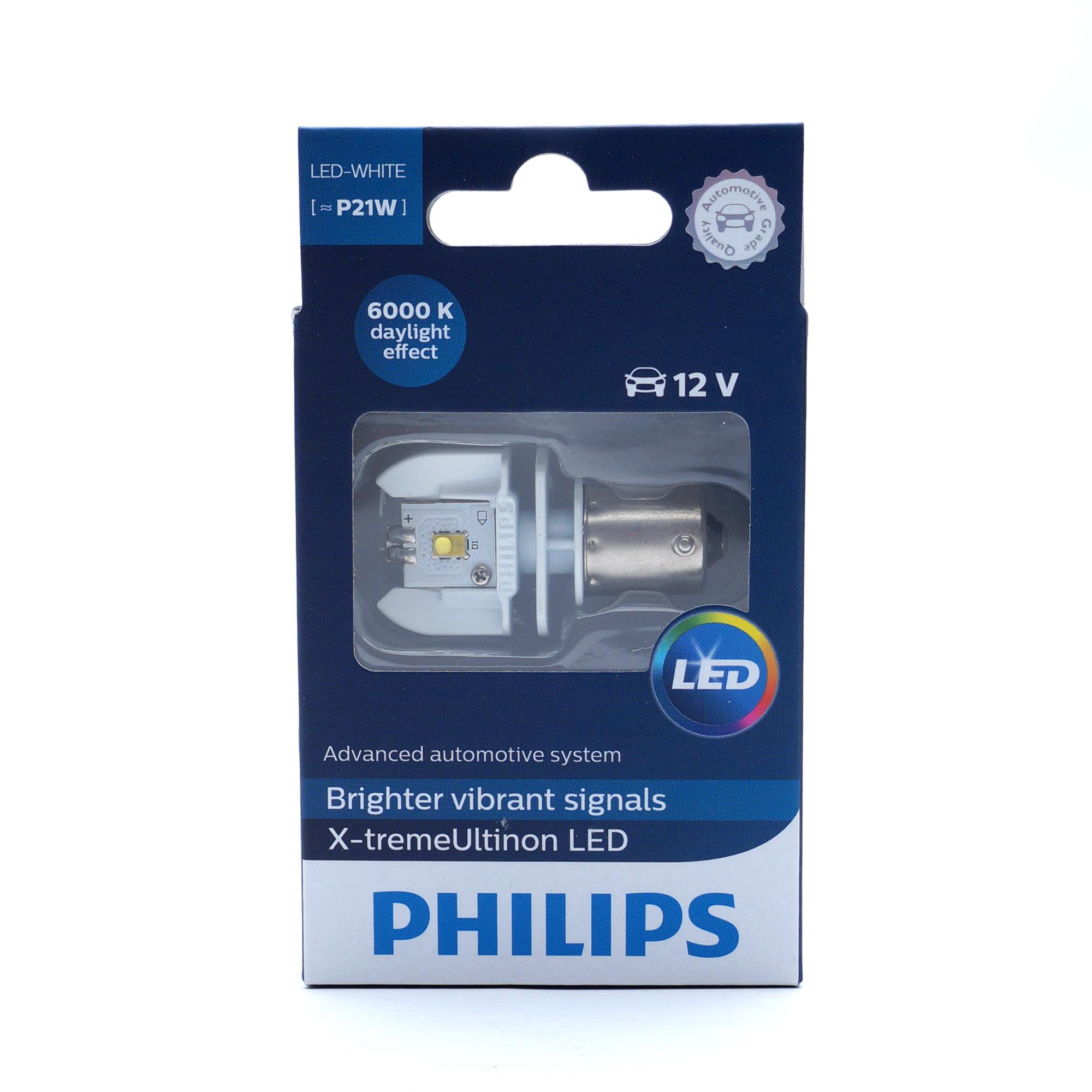 Светодиодные габариты P21W Philips X Treme Ultinon