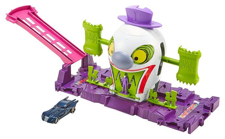 Купить Mattel Hot Wheels GBW51 Хот Вилс Готэм Сити игровые наборы Джокер, Наборы игрушечного транспорта