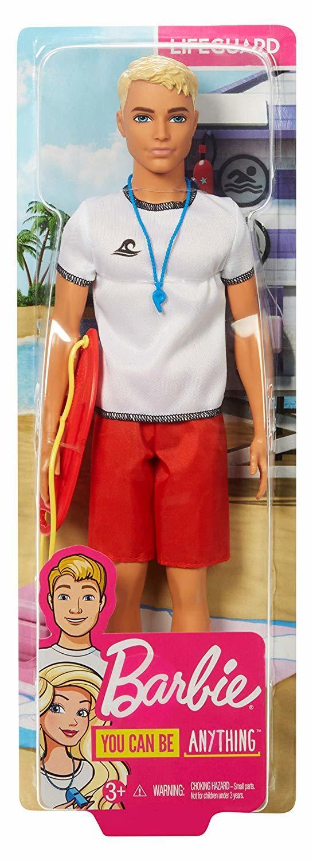 Кукла Barbie Кен Спасатель FXP04,  - купить со скидкой