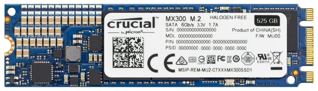 Внутренний SSD накопитель Crucial MX300 525GB (CT525MX300SSD4)