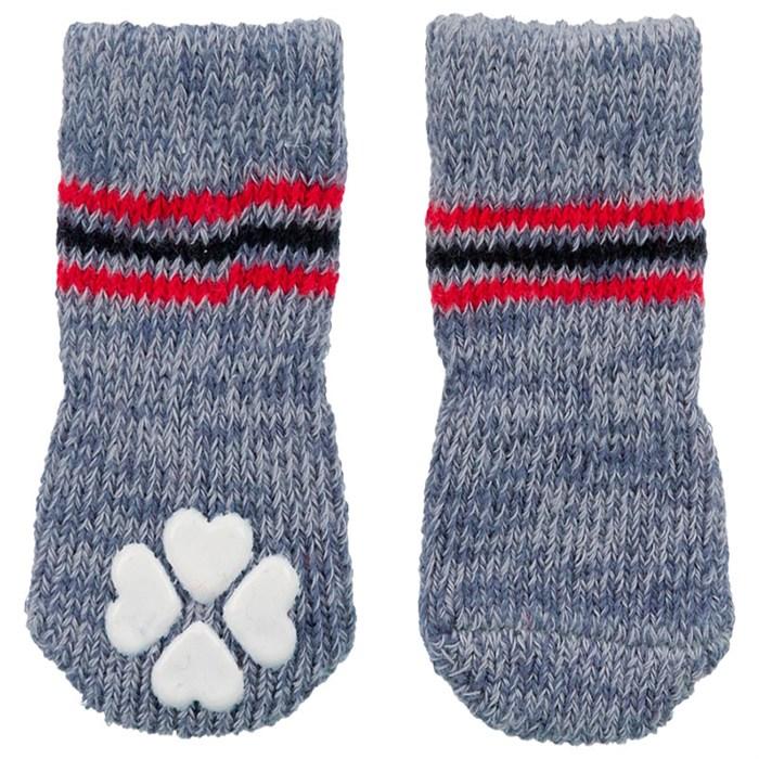 Носки Trixie для собак не скользящие XXS–XS серые - 2 шт