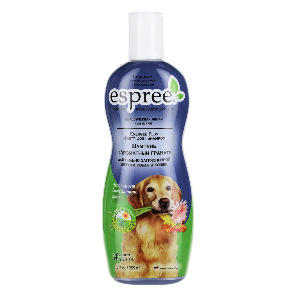 Шампунь для собак Espree Classic Care Energee Plus Dirty Dog Ароматный гранат 355 мл.