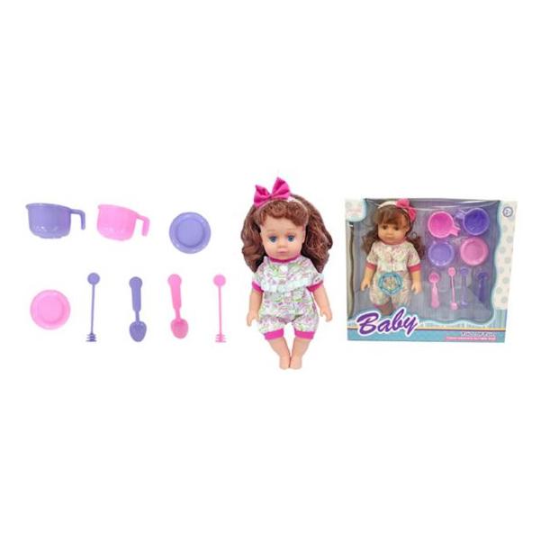 Купить НАША ИГРУШКА Кукла озвученная, 27 см, 8 предметов 171123, Наша игрушка, Классические куклы