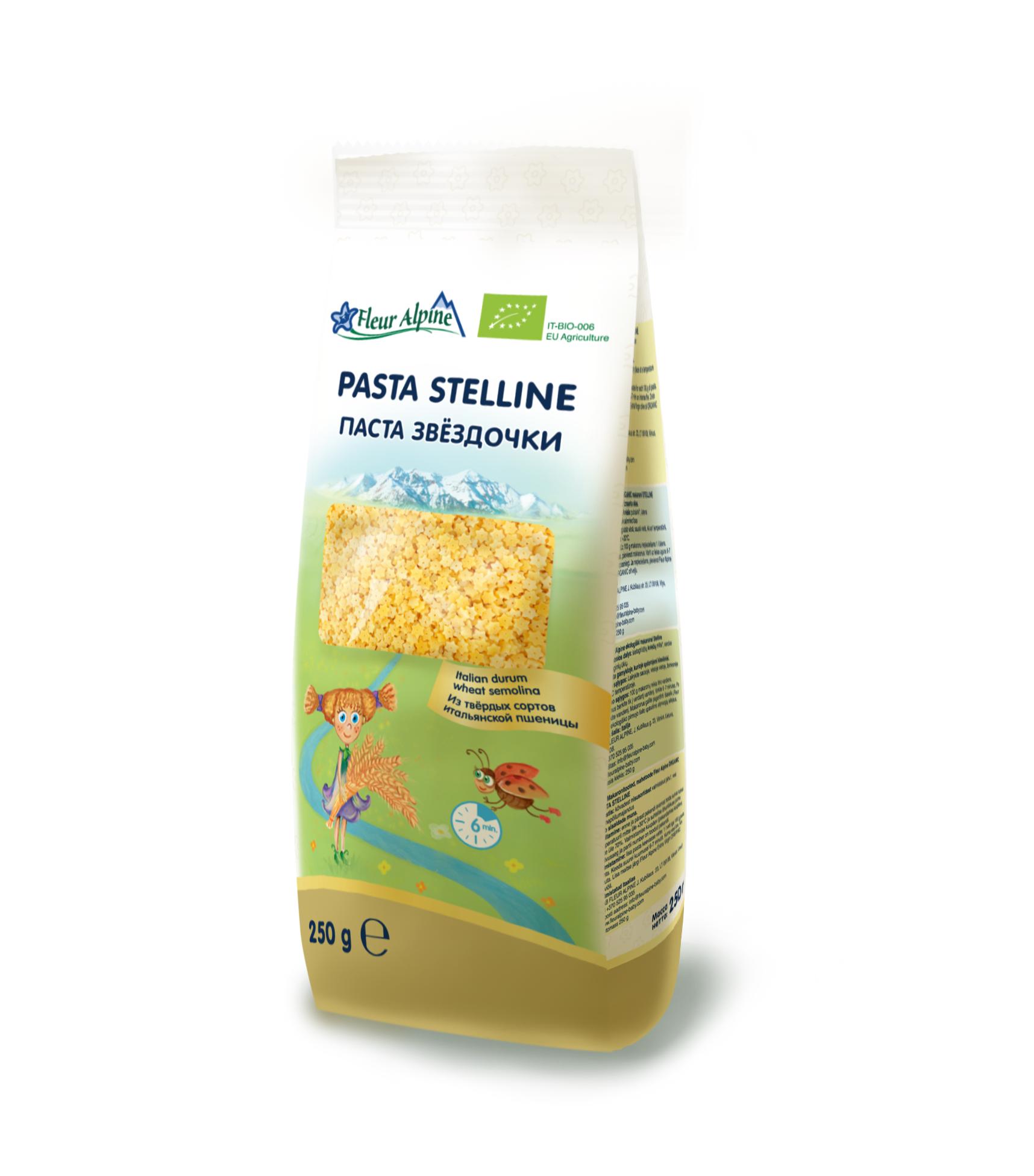 Паста Fleur Alpine Органик Звездочки (Стеллини), 250/24