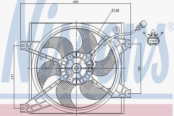 Вентилятор охлаждения двигателя NISSENS 85085