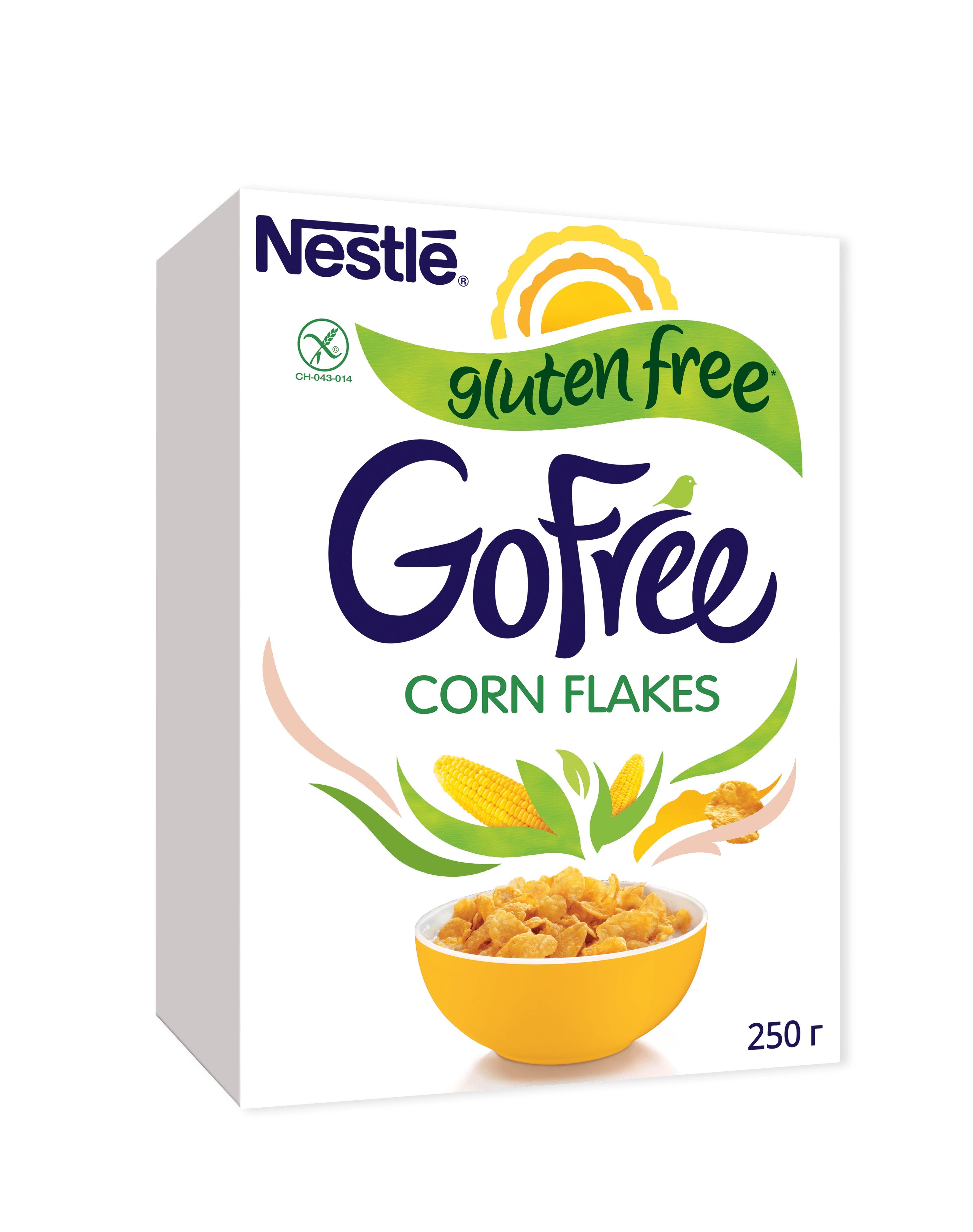 Хлопья кукурузные Nestle Gofree обогащенные витаминами 250 г