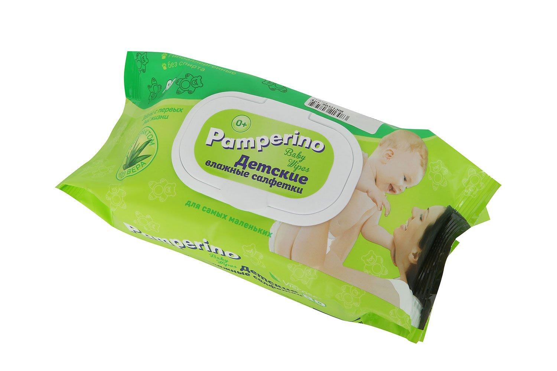 Детские влажные салфетки Авангард Pamperino Алоэ вера 80 шт.